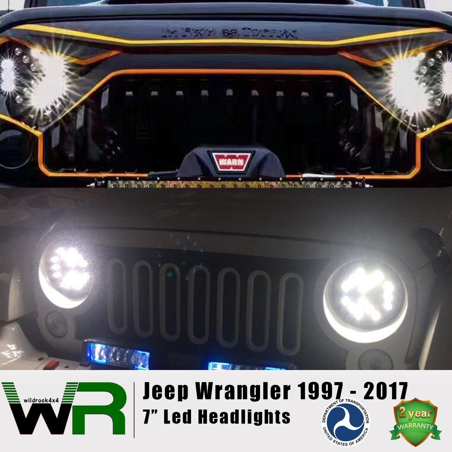 7 inch Arrow Headlights for Jeep Wrangler TJ JK 97-18