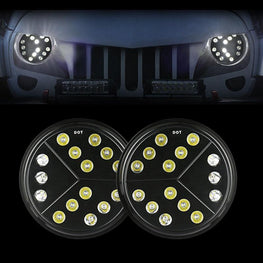 wildrock4x4 Headlights 7 inch Arrow Headlights for Jeep Wrangler TJ JK 97-18