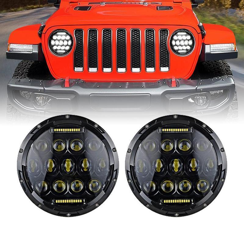7 Inch Honeycomb LED Headlights (18-19 Jeep Wrangler JL)