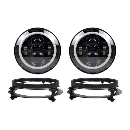 wildrock4x4 Headlights 7 Inch LED Halo Headlights (18-19 Jeep Wrangler JL)