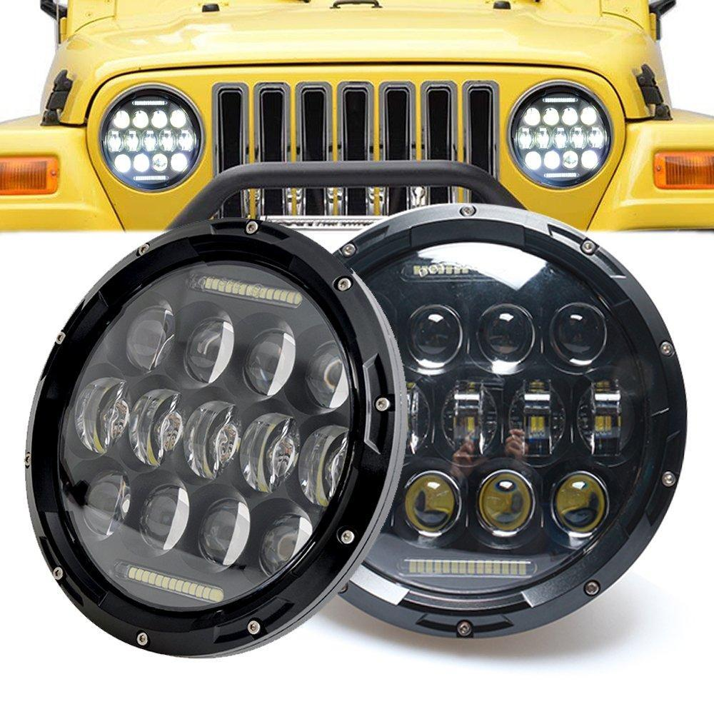 75W 7 Inch Headlights for Jeep Wrangler TJ JK 97-18