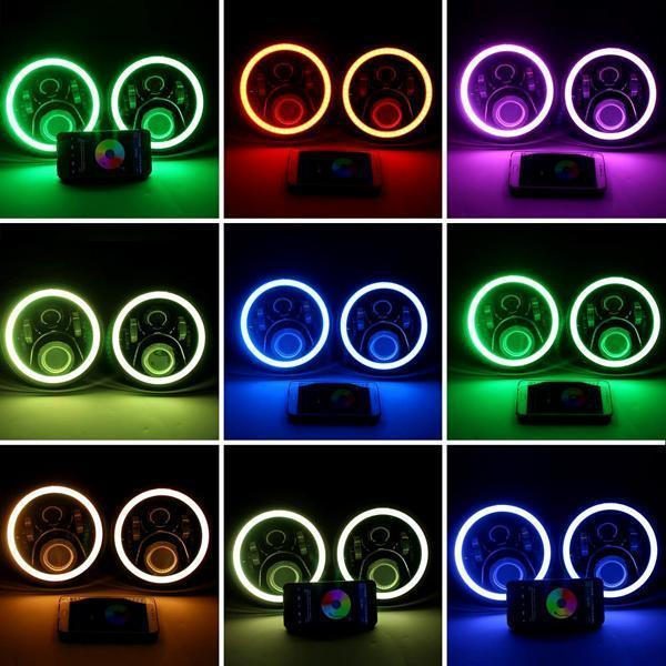 RGB Halo Headlights & RGB Halo Fog Lights for Jeep Wrangler