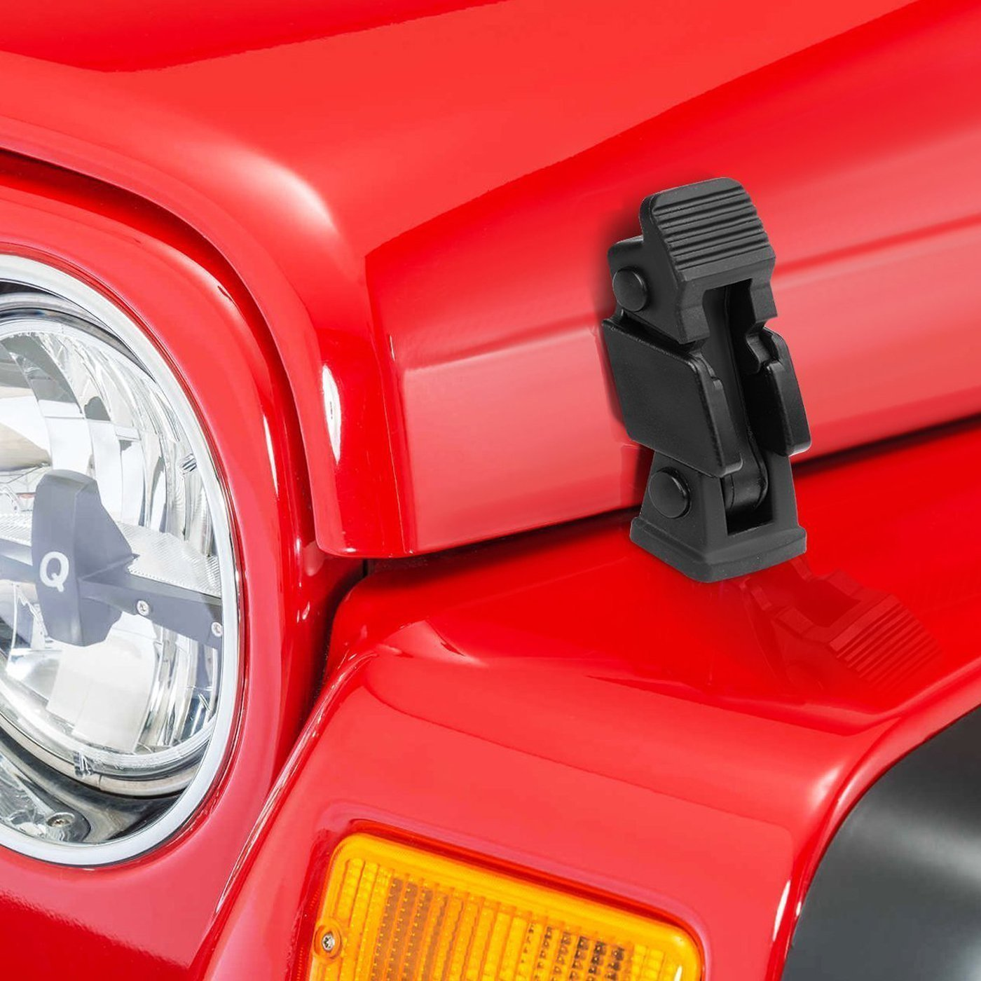 Hood Cover Latches Catch for 97-06 Jeep Wrangler TJ