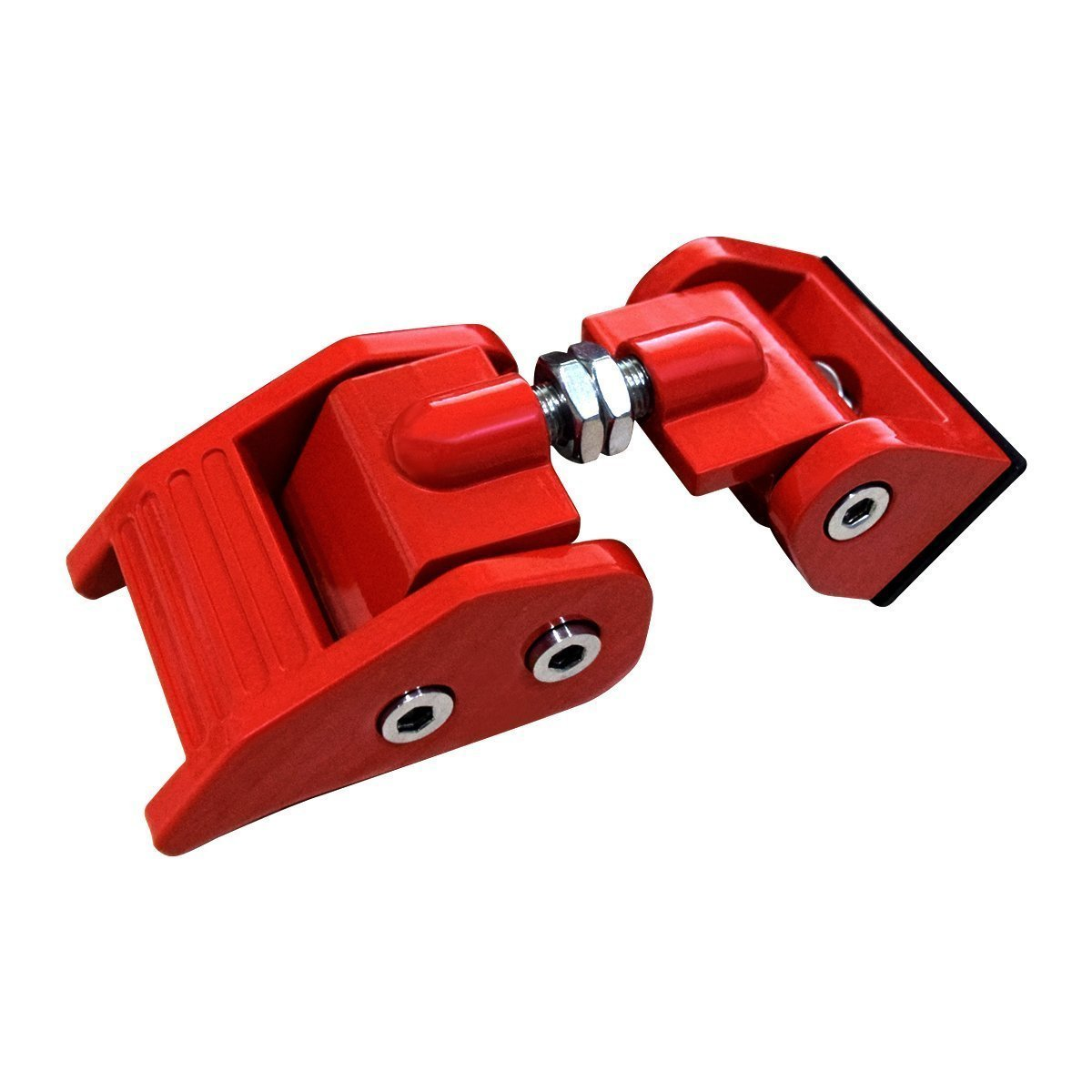 Red Aluminum Hood Catch Kit for Jeep Wrangler JK 07-18