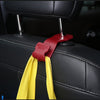 Black Seat Headrest Hanger Storage Hooks for Car A Pair