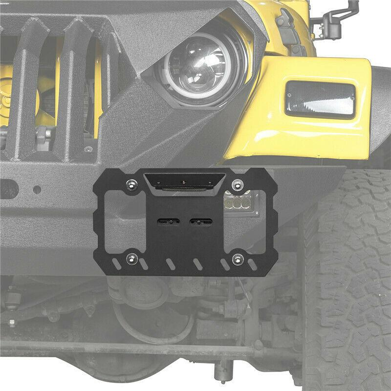 Front License Plate Bracket For Jeep Wrangler CJ YJ TJ JK JL 1955-2020