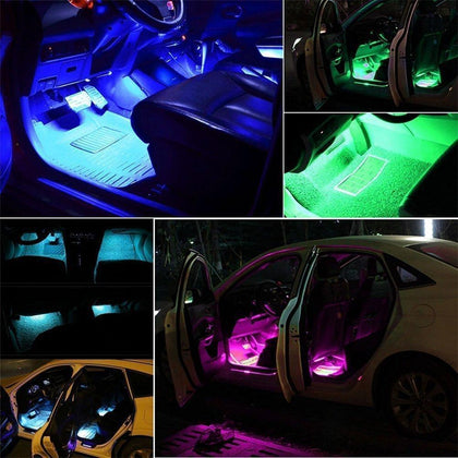 48 pcs Car Interior LED Strip Lights Wireless Control