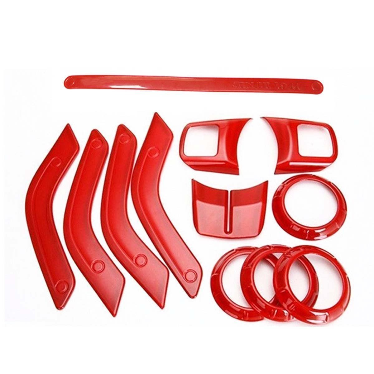 Full Set Interior Decoration Trim Kit for 11-17 JK 4 Door