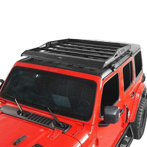 Hard Top Roof Rack Cargo Carrier Basket For 18-20 Jeep Wrangler JL 4 Doors
