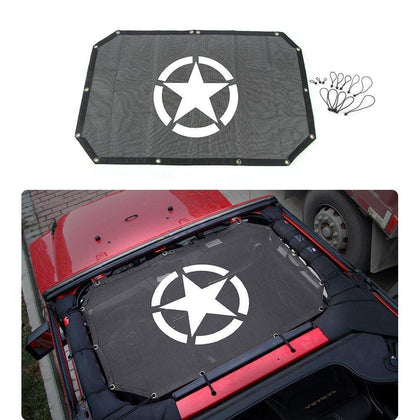wildrock4x4 Soft Tops Durable Mesh Sunshade Cover for 07-17 Jeep Wrangler JK