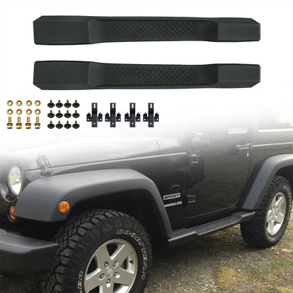 wildrock4x4 Step Rails & Running Boards Black Side Step Bars for Jeep Wrangler JK 07-17 2 Door