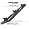 Black Steel Side Step Bars for 07-18 Jeep Wrangler JK 4 Door