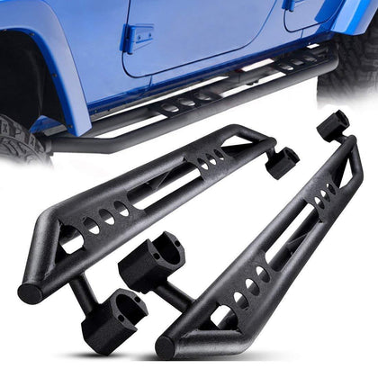 wildrock4x4 Step Rails & Running Boards Non-slip Side Steps Kit for 07-18 Jeep Wrangler Jk 4 Door