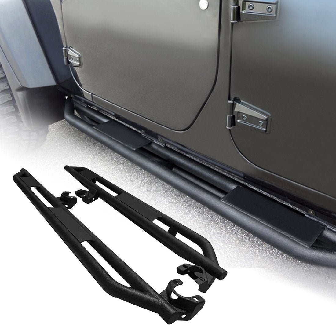 Running Boards Side Step for Jeep Wrangler JK 07-17 4Door