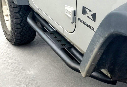 wildrock4x4 Step Rails & Running Boards Side Step Nerf Bars for 07-18 Jeep Wrangler JK 2 Door