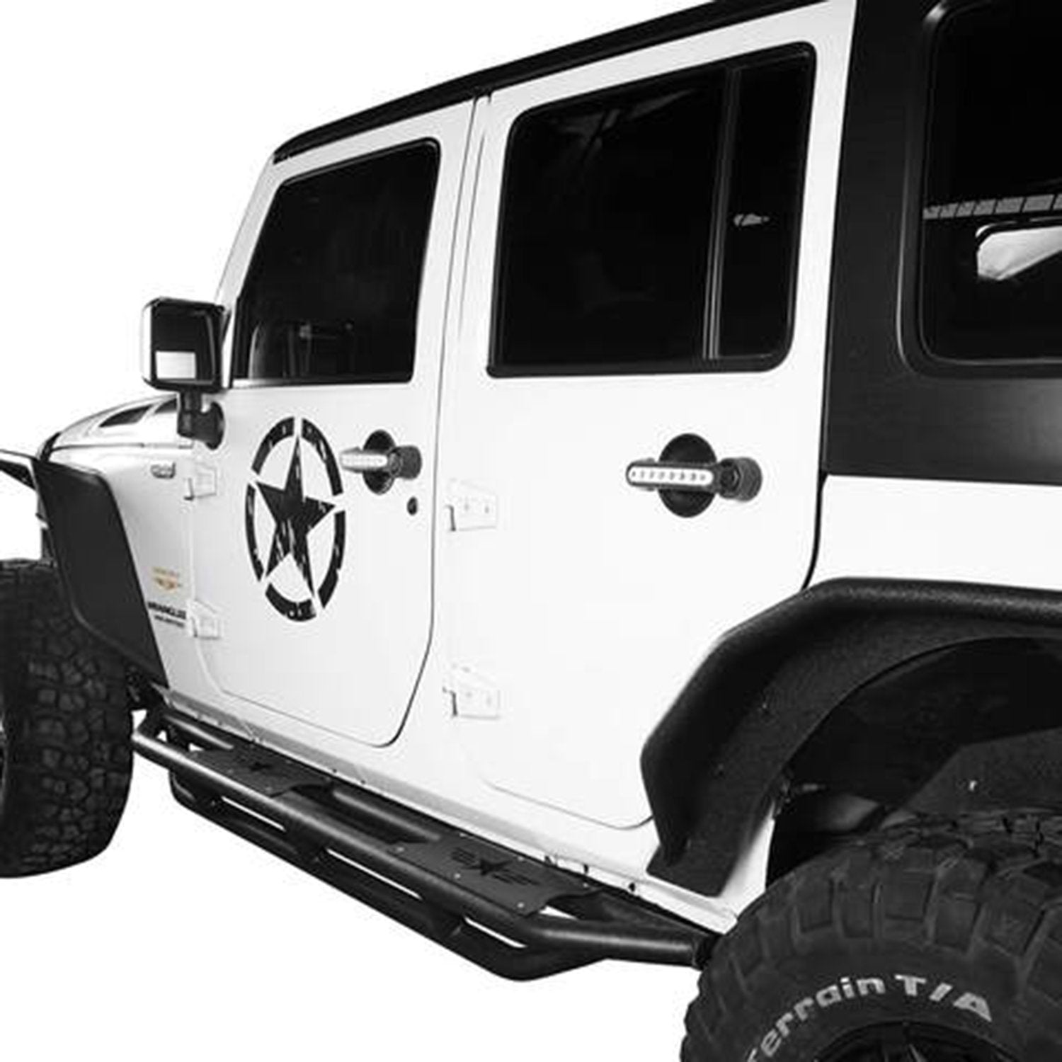Tubular Side Steps for 07-18 Jeep Wrangler JK