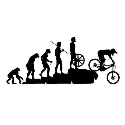 wildrock4x4 Stickers & Decals Black Human Evolution Bicycle Car Stickers Reflective Decals