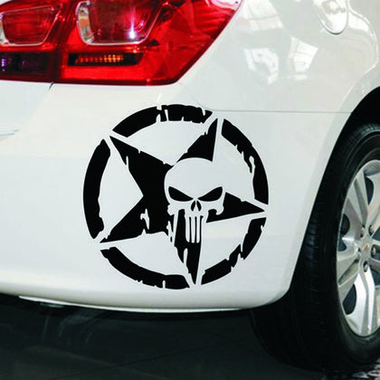 wildrock4x4 Stickers & Decals Five-pointed Star & Skull Head Car Sticker Decoration