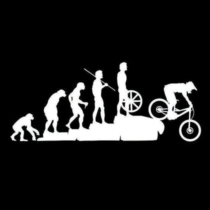 wildrock4x4 Stickers & Decals White Human Evolution Bicycle Car Stickers Reflective Decals