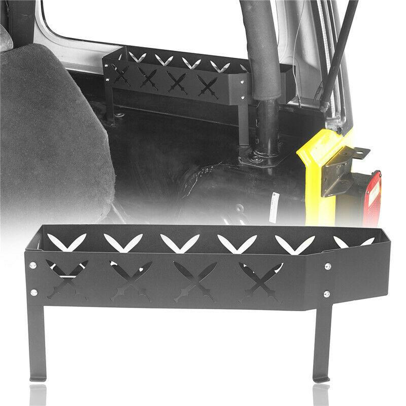 Right Side Wheel Black Steel Storage Tray for Jeep Wrangler 97-06 TJ