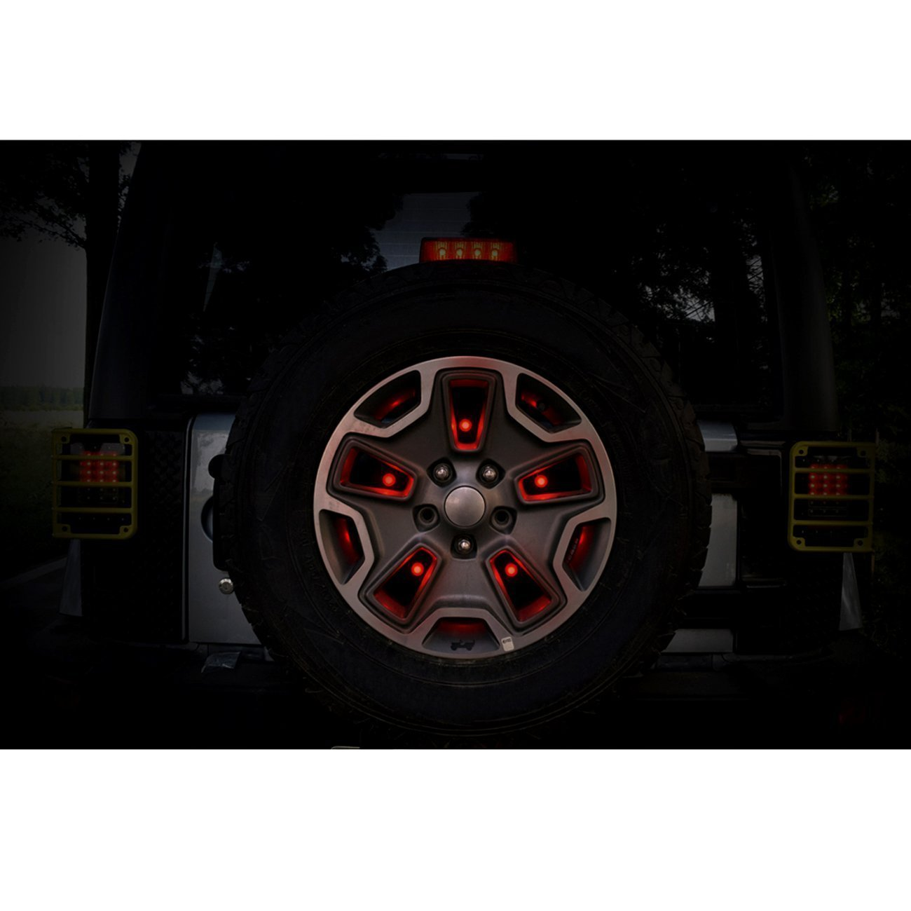 LED Red Spare Tire Brake Light for Jeep Wrangler JK 07-17