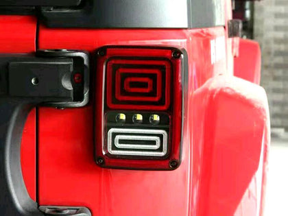 Snake Style Rear LED Taillights for Jeep Wrangler JK 07-17
