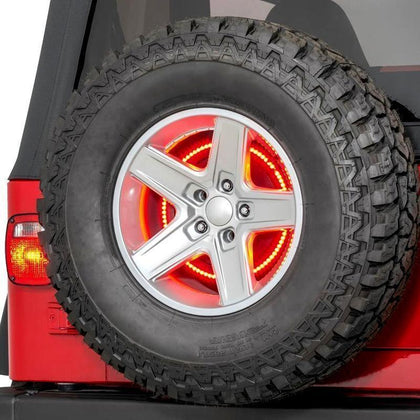 wildrock4x4 Tail & Brake Lights Spare Tire Brake Light for Jeep Wrangler JK 07-17