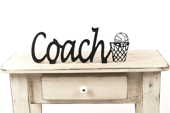 Basketball Coach Shelf Sign