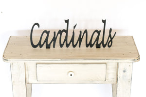 Cardinals Shelf Sign