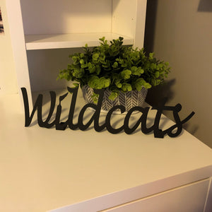Wildcats Shelf Sign