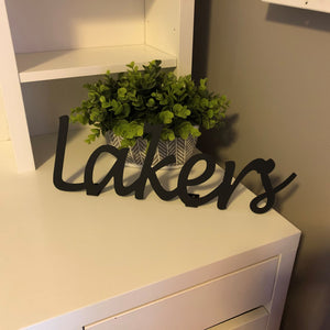 Lakers Shelf Sign
