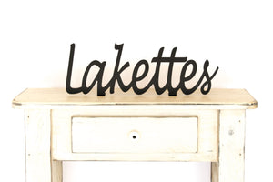 Lakettes Shelf Sign