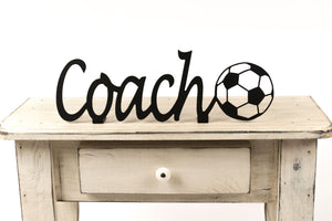 Soccer Coach Shelf Sign