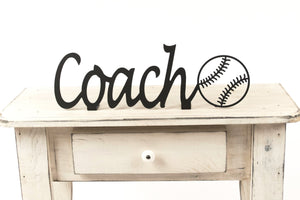 Softball Coach Shelf Sign