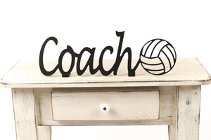 Volleyball Coach Shelf Sign