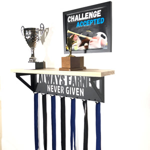 Always Earned Trophy Display Shelf - Pine