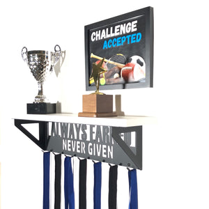 Always Earned Trophy Display Shelf - White