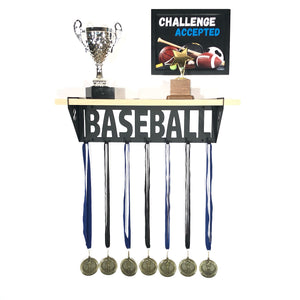 Baseball Trophy and Medal Shelf - Pine