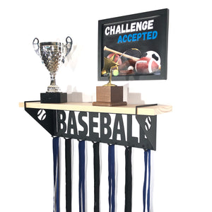 Baseball Trophy Display Shelf - Pine