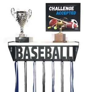 Baseball Trophy Shelf - White