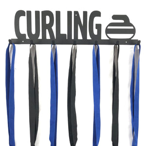 Curling Medal Holder - 7 Hook