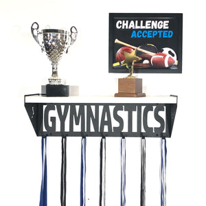 Gymnastics Trophy Shelf - Female - White