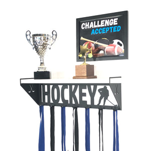 Hockey Trophy Display Shelf - Male - White