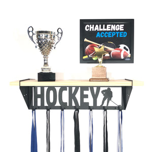 Hockey Trophy Shelf - Male - Pine