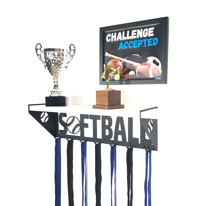 Softball Trophy Shelf