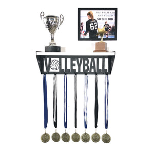 Volleyball Trophy and Medal Shelf - White