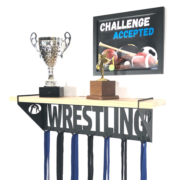 Wrestling Trophy Shelf