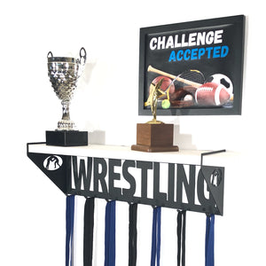 Wrestling Trophy Display Shelf - White