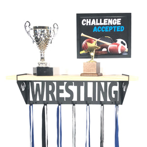 Wrestling Trophy Shelf - Pine