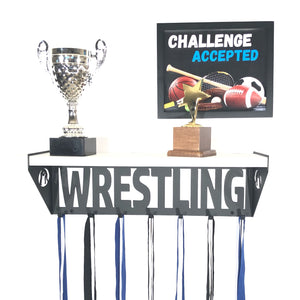 Wrestling Trophy Shelf - White